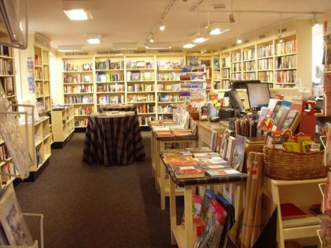 Bookshop interior